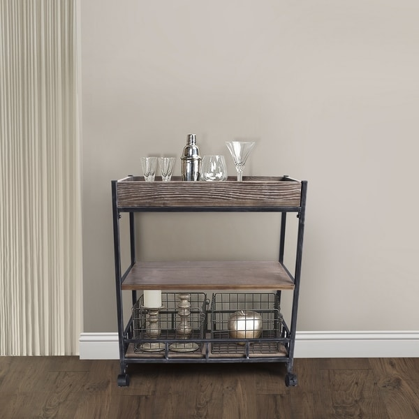 Grey Industrial Kitchen: Shop Niles Industrial Kitchen Cart In Industrial Grey And