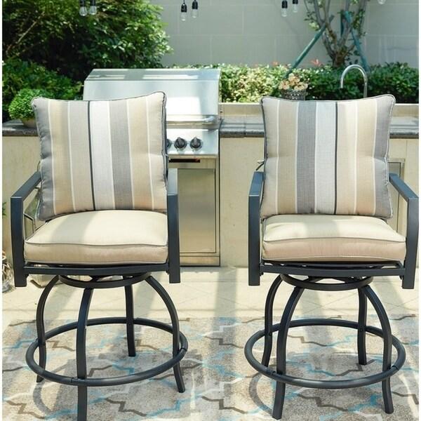 Breckenridge 4 Piece Patio Furniture Set Two Swivel: Shop Patio Festival ® 2-Piece High Seating Swivel Chair