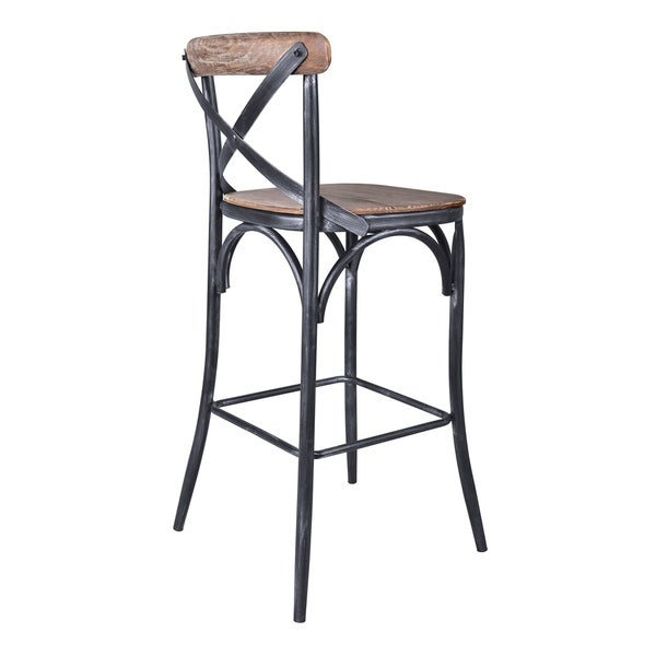 Shop Armen Living Sloan Industrial 30 Quot Bar Height Barstool