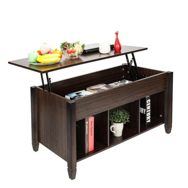 Coffee Table Hidden Chairs: Shop Lift Top Living Room Furniture End/Coffee Table