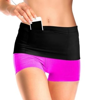 Elastic Running Belt Waist Belt With Pockets for All Size Phone