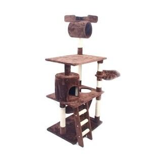 "62"" Cat Tree Kitten Activity Tower Condo with Hammock"