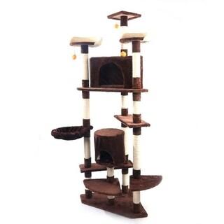 """80"""" Sisal Hemp Cat Tree Furniture Kitten Activity Tower"""