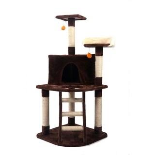 """48"""" Sisal Hemp Cat Tree Kitten Activity Tower"""