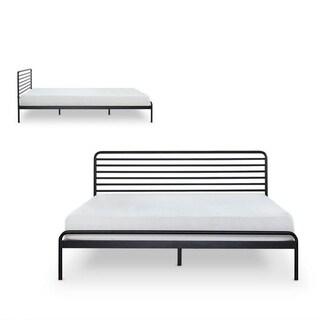 Twin/Full/Queen Wooden Slats Mattress Platform Metal Bed Frame