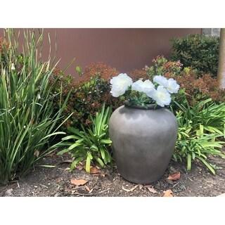 Durx-litecrete Lightweight Concrete Ash Light chocolate Garden Urn - 16.9'x16.9'x18.9'