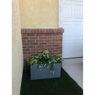 Durx-litecrete Lightweight Concrete Modern Long Cement Color Low Planter-Small - 23.2'x11.8'x12'