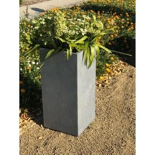 Durx-litecrete Lightweight Concrete Cement Color Tall Planter-Large - 13.8'x13.8'x27.8'