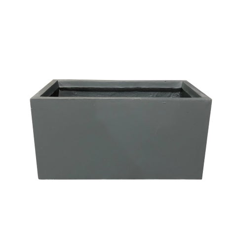 Durx-litecrete Lightweight Concrete Modern Long Low Granite Color Planter-Set of 3 - 31.1'x14.6'x14.8'