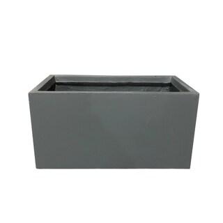 Durx-litecrete Lightweight Concrete Modern Long Low Granite Color Planter-Set of 3 - 31.1'x14.6'x14.8'