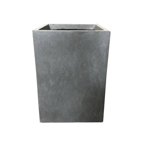 Durx-litecrete Lightweight Concrete Tall Square Cement Color Planter-Large - 13'x13'x18.5'
