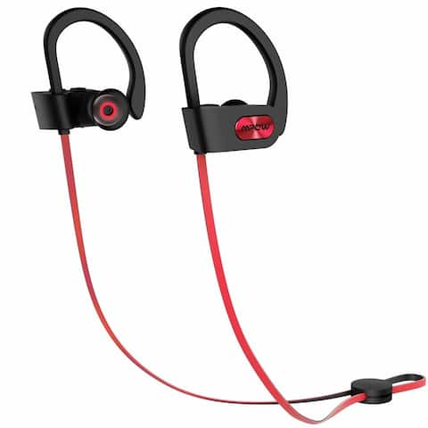 Mpow Bluetooth Headphones V4.1 Wireless Sport Headphones kit (Armband, Car Charger, 2-in-1 Charging Cable, Carrying Pouch)