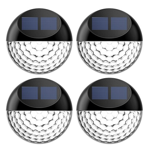 LED Solar Light outdoor lighting, Waterproof Fence Light (pack of 4)