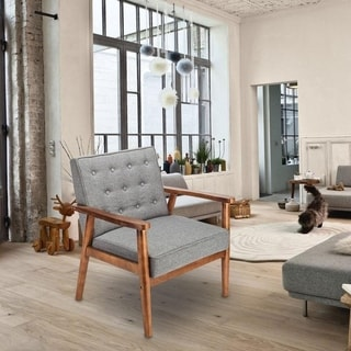 Shop Lumisource Wooden Upholstered Vintage Neo Armless