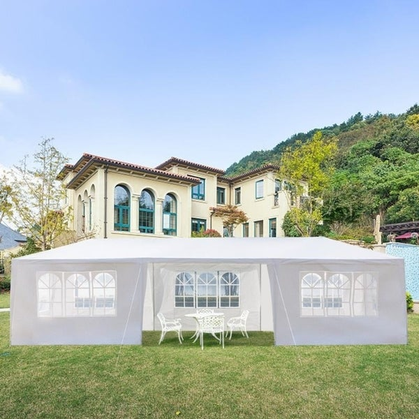 10'x30' Upgrade Spiral Tube Wedding Party Gazebo Pavilion Canopy Tent/5/8 Sides