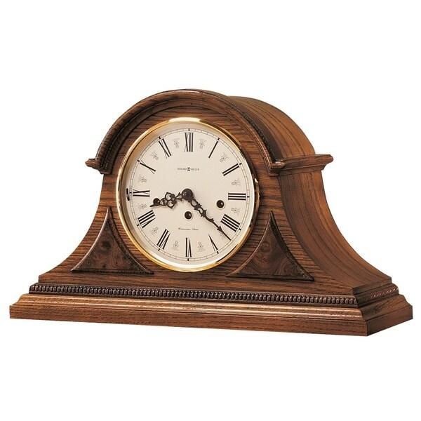 Howard Miller Worthington Oak-finished Wood Classic Mantel Clock