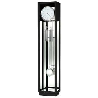 Howard Miller Whitelock II Black Wood Grandfather Clock