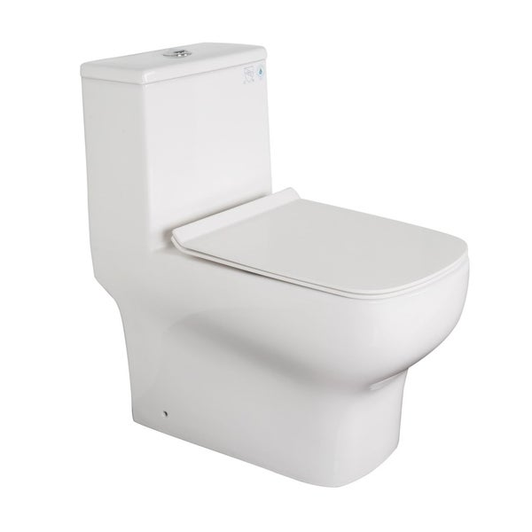 Shop Kdk A03 One Piece Dual Flush Elongated Bathroom