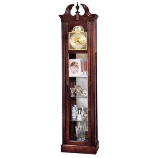 Howard Miller Classic Cherish Grandfather Clock Style Standing Clock with Display Shelves