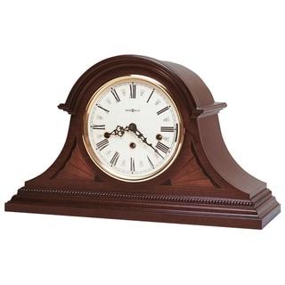 Howard Miller Downing Mahogany-finish/Cream Wood Chiming Mantel Clock
