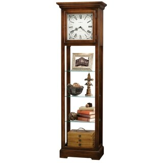 Howard Miller Le Rose Classic Grandfather Standing Clock with Display Shelves
