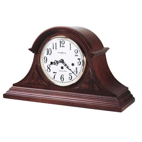 Howard Miller Carson Cherry Wood Chiming Mantel Clock with Silence Option