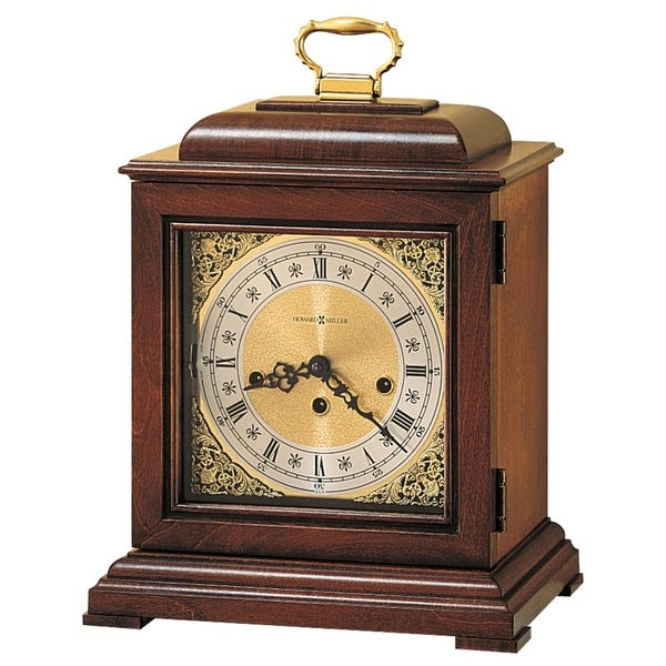 Howard Miller Lynton Brown Wood Old World Chiming Mantel Clock with Silence Option