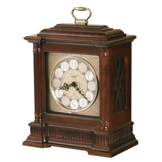 Howard Miller Akron Classic, Traditional, Old World, Chiming Mantel Clock with Silence Option, Reloj del Estante
