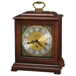 Howard Miller Cherry Wood Chiming Mantel Clock with Silence Option
