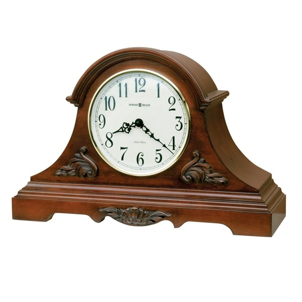Howard Miller Sheldon Classic Cherry-finished Wood Mantel Clock with Silence Option