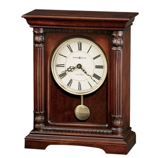 Howard Miller Langeland Classic, Transitional, Old World, Chiming Mantel Clock with Pendulum and Silence Option