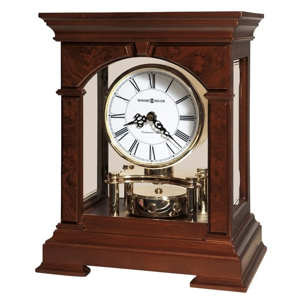 Howard Miller Statesboro Contemporary, Transitional, Classic, Chiming Mantel Clock with Silence Option, Reloj del Estante