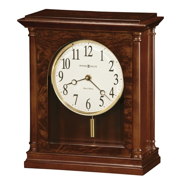 Howard Miller Candice Classic, Transitional, Old World, Chiming Mantel Clock with Pendulum and Silence Option, Reloj del Estante. Opens flyout.
