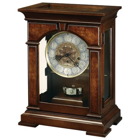 Howard Miller Emporia Classic Cherry Finish Mantel Clock - 16.75 in. high x 12.5 in. wide x 7.75 in. deep