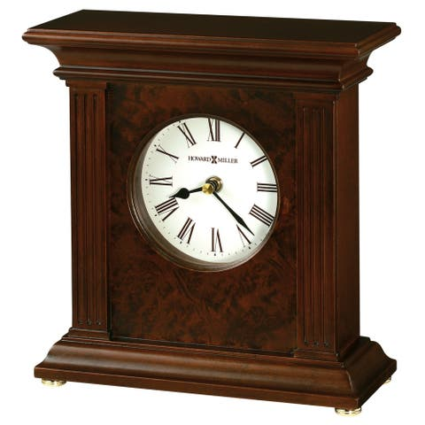 Howard Miller Andover Contemporary, Transitional, Classic, Accent Mantel Clock with Column Detailing, Reloj del Estante