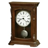 Howard Miller Lanning 81st Anniversary Classic, Transitional, Old World, Chiming Mantel Clock with Pendulum and Silence Option