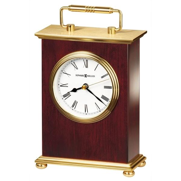 Howard Miller Rosewood Bracket Vintage, Transitional, Mid-Century Modern Style Accent Mantel Clock, Reloj del Estante