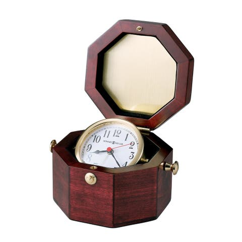 Howard Miller Reloj del Estante Chronometer Glossy Roswood Hall Vintage Captain-style Mantel Alarm Clock