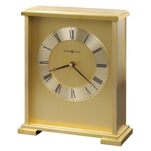 Howard Miller Exton Contemporary, Modern, Glam, Transitional Style Mantel Clock, Reloj del Estante
