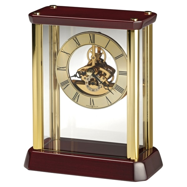 Howard Miller Kingston Transitional, Classic and Bold, Statement Table Clock with Skeleton Movements, Reloj de Mesa