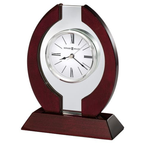 Howard Miller Clarion, Contemporary Modern, Sleek, and Chic, Classic and Bold Style Table Clock, Reloj de Mesa