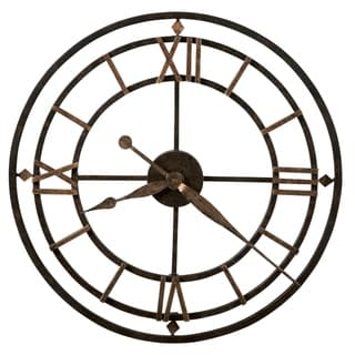 Howard Miller York Station Rustic, Industrial, Bold, Vintage Style Wall Clock, Reloj De Pared