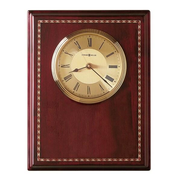 Howard Miller Honor Time II Elegant, Regal, Transitional Wall Clock on Commemorative Plaque, Reloj De Pared