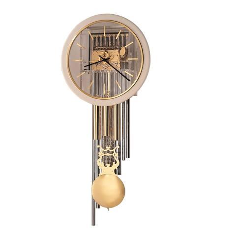 Howard Miller Focal Point Glam, Modern, Transitional, Elegant Chiming Wall Clock with Pendulum, Reloj De Pared