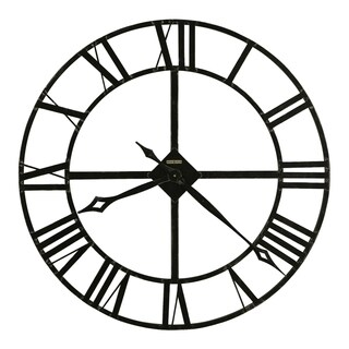 Howard Miller Lacy 32 Inch Wrought Iron Vintage, Transitional, Bold, Industrial Style Statement Wall Clock, Reloj De Pared