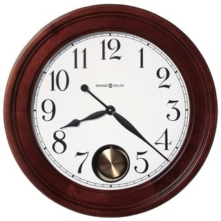Howard Miller Griffith Reloj De Pared Brown Cherry-finished Wooden 25-inch Statement Wall Clock with Large Numbers