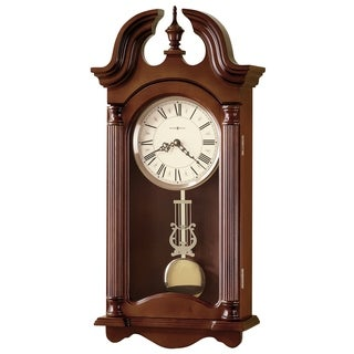 Howard Miller Everett, Rustic, Vintage, Contemporary, Transitional Wall Clock with Pendulum, Reloj De Pared