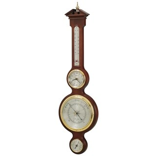 Howard Miller Catalina Vintage, Classic, Nautical, and Old World Design Wall Clock, Thermometer, Barometer in Hardwood Frame