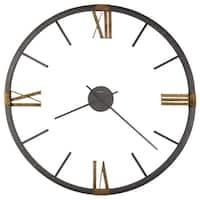 Howard Miller Prospect Metallic Charcoal Metal Old World Rustic Gallery Wall Clock
