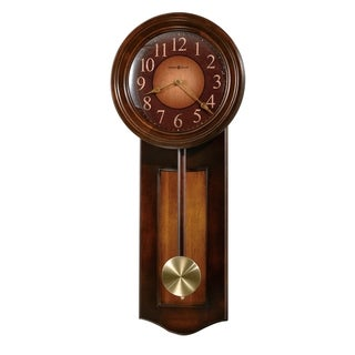 Howard Miller Avery Rustic, Farmhouse Chic, Bold, and Transitional Style Chiming Wall Clock with Pendulum, Reloj De Pared